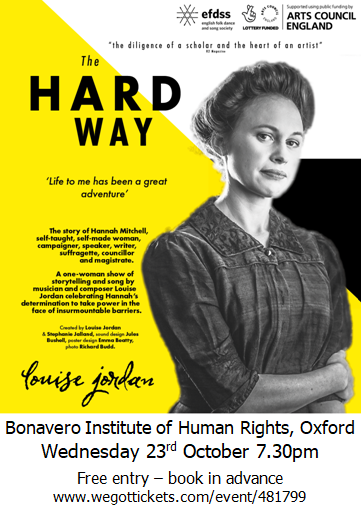 Louise Jordan Performs – The Hard Way: The Story of Hannah Mitchell