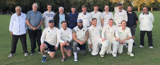 Witney Swifts celebrate winning Division 1 of the OCA League