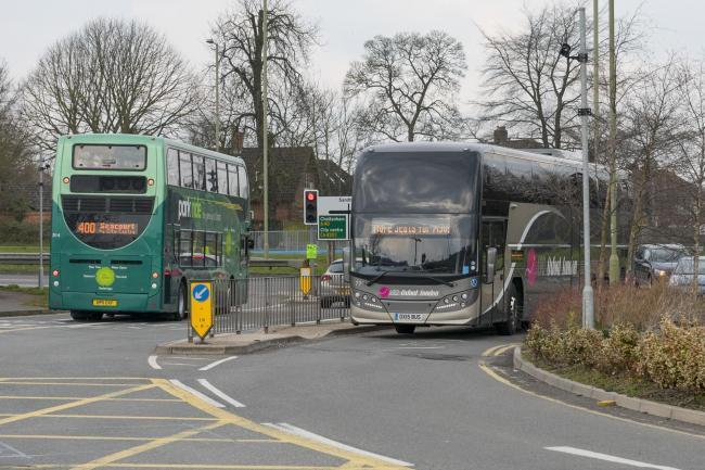 Buses at Thornhill park-and-ride in Oxford