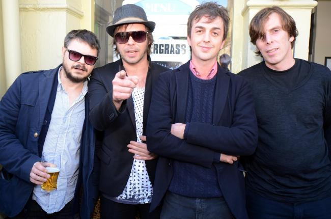 Supergrass Mick Quinn, Gaz Coombes, Danny Goffey and Rob Coombes. Picture by Marc West