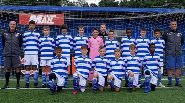 Oxford City Under 13s. Back row (from left): Roger Perry (coach), Ellis Asquith-Queen, Stephen Hannon, Rafael Dos Santos, Joseph Sparkes, Calum Terry, Matty Shelton (manager), Archie Harris, Tish Deji-Makinde, Samuel Davies, Donte Yearwood, Tony Hannon (a