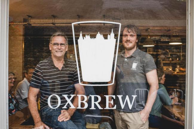 Simon Scamp, left, and step-son Aaron run Oxbrew's micropub in Witney Picture: Gem Toes-Crichton