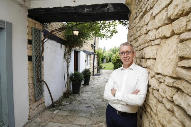 White Hart House owner Drew Price after the inn won best historic property in the UK