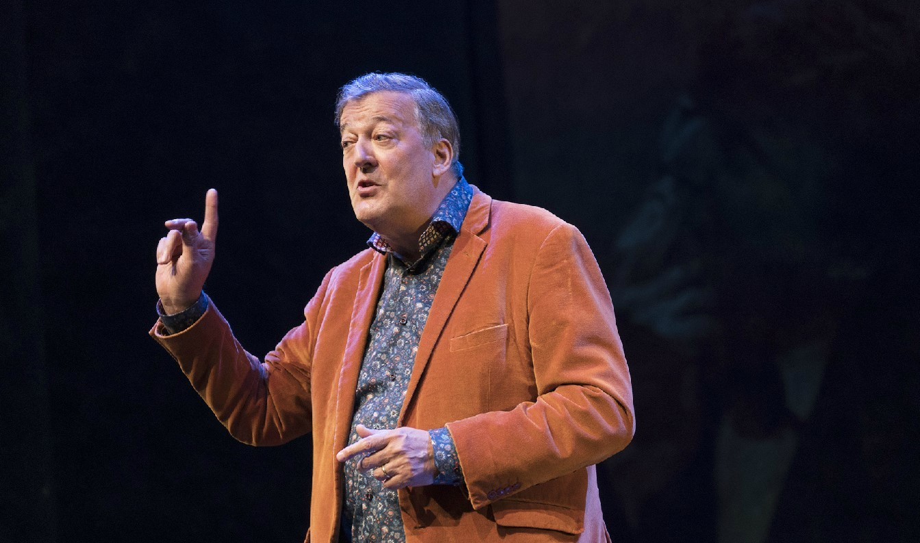 Stephen Fry talks about Greek myths and gods at New Theatre Oxford
