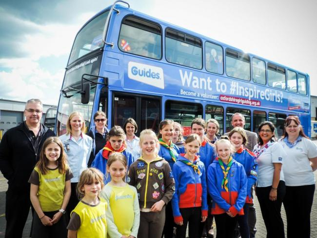 Girl Guiding Oxfordshire won the Brand the Bus competition Picture Oxford Bus Company
