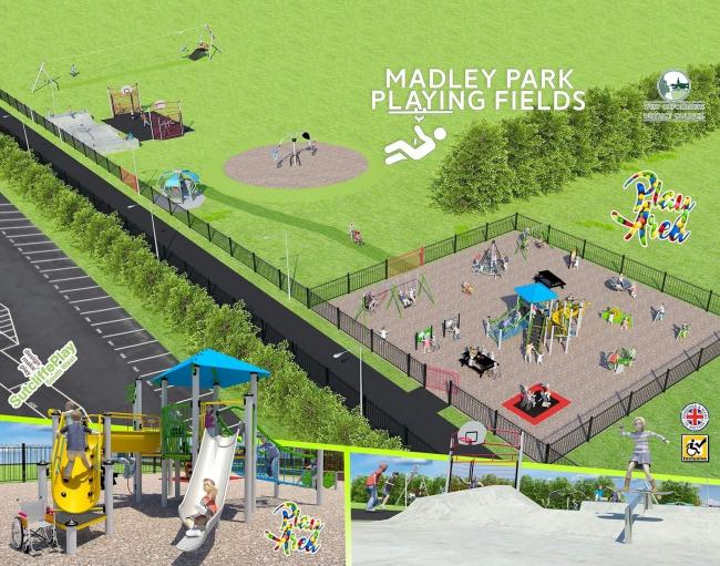 The design of the new play areas at Madley Park, Witney Picture: Kat Quigley