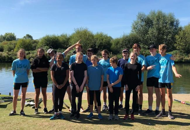 The Falcon juniors, who produced a fine set of results at the Isis Sculls Regatta