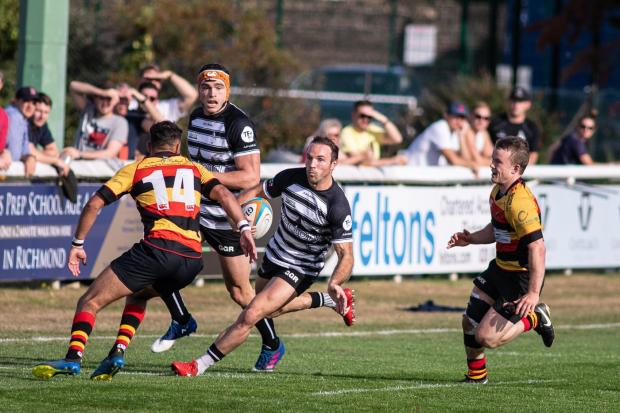 Chinnor's Will Harries taking on Richmond from last weekend. Picture: David Howlett