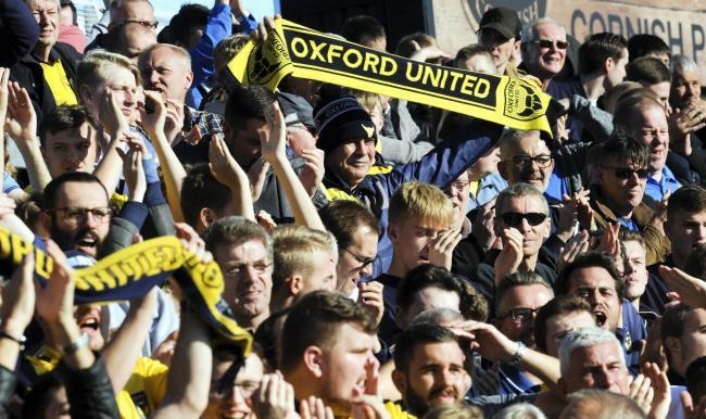 Oxford United supporters Picture: David Fleming