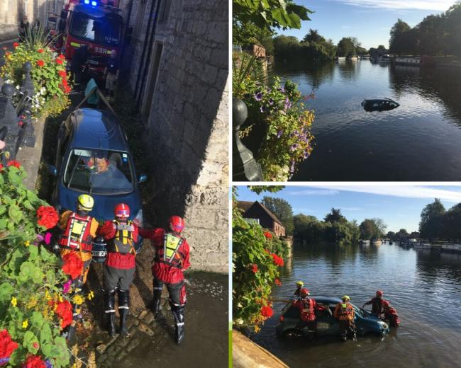 Oxfordshire Fire and Rescue Service released these images of the rescue operation