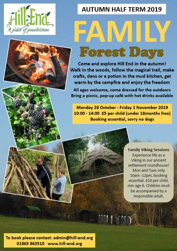 Family Half Term Forest Days @ Hill End