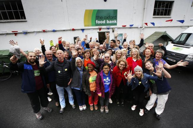 Oxford Food Bank volunteers and friends celebrate their 10th birthday on Sunday. Picture: Ed Nix