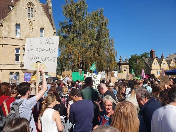 A climate strike in Oxford last September.