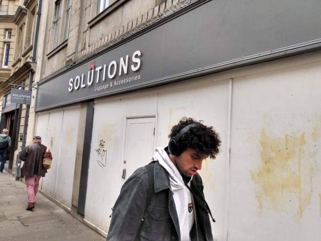 The former Solutions store in George Street will become a community space Picture Andy Ffrench