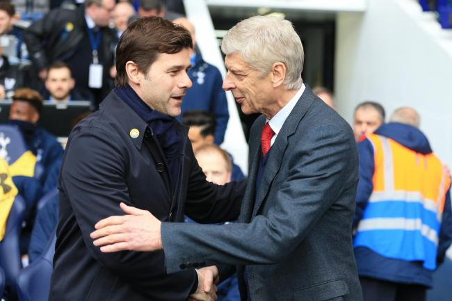 Arsene Wenger (right) came up against Tottenham boss Mauricio Pochettino during his time in charge of Arsenal.