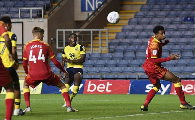 Shandon Baptiste scores the winner against Norwich City Under 21s in the Leasing.com Trophy last month  Picture: David Fleming