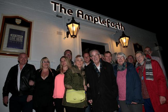 Locals at the Ampleforth Arms