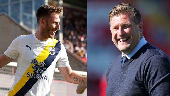 James Henry (left) and Karl Robinson had months to remember for Oxford United    Pictures: James Williamson