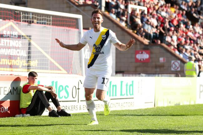 James Henry celebrates scoring against Lincoln City last month   Picture: James Williamson