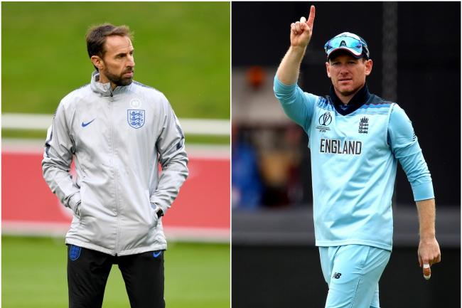 World Cup-winning captain Eoin Morgan meets up with Southgate's England squad