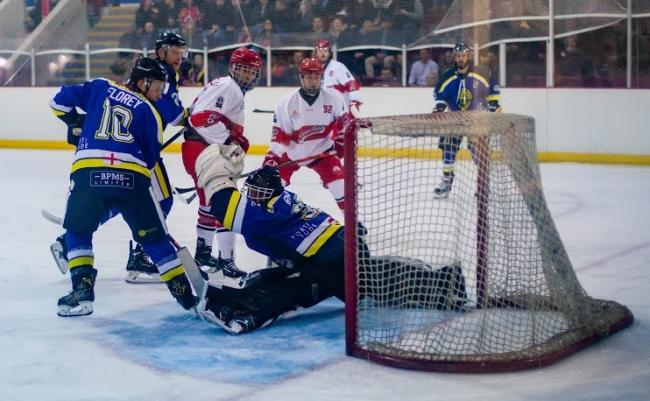 Oxford City Stars netminder Ross Miller makes yet another save against StreathamPicture: Fusional