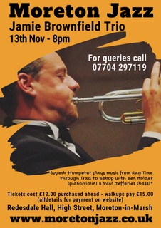 Moreton Jazz presents  Jamie Brownfield Trio