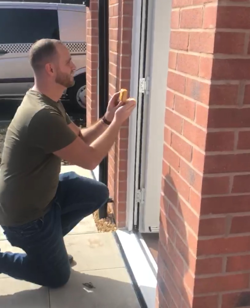 Young Romeo stuns girlfriend with surprise proposal at new house