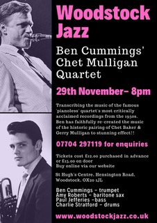 Woodstock Jazz presents Ben Cummings and the music of 'Chet Mulligan'
