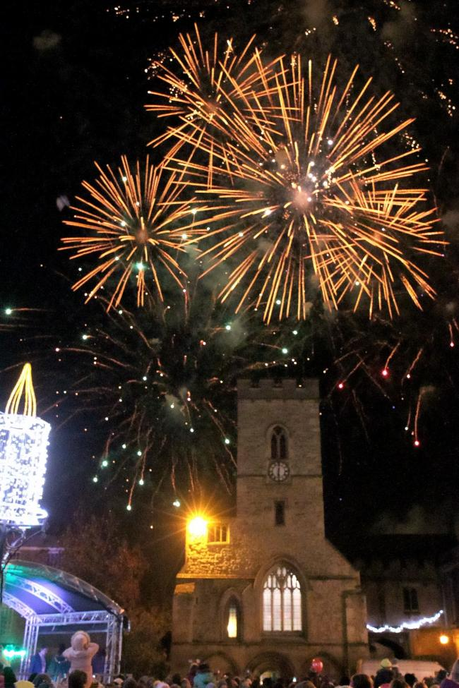 Fireworks over Market Square at the Abingdon Christmas Lights switch-on in 2016. Picture: Ric Mellis