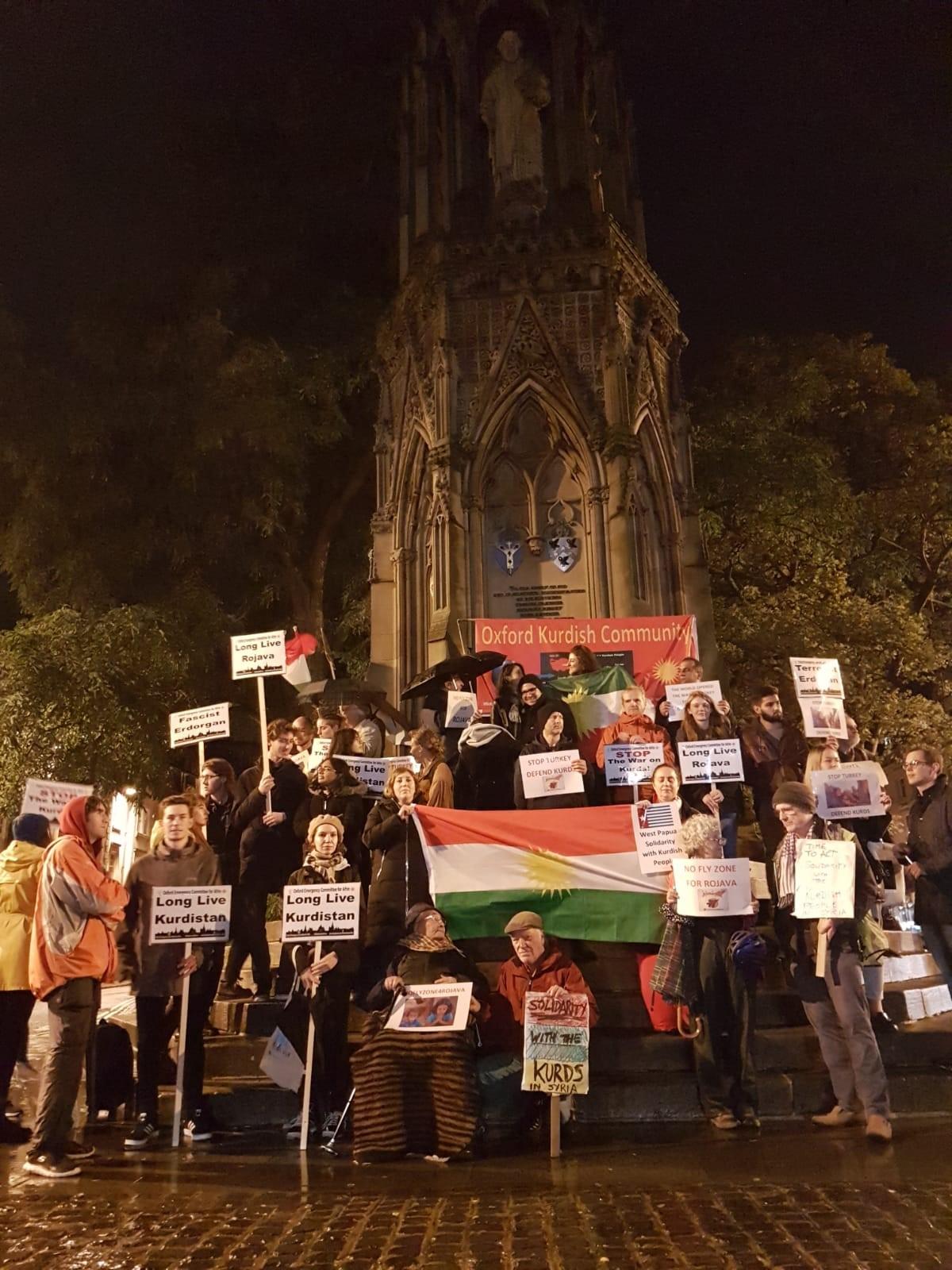 Kurdish solidarity demonstration held in Oxford
