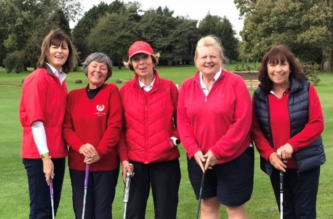 Oxford Ladies' Bronze League team (from left): Sarah Sadler, Gill Chapman, Judith Ryan, Mo Hewlett, Linda Halsey