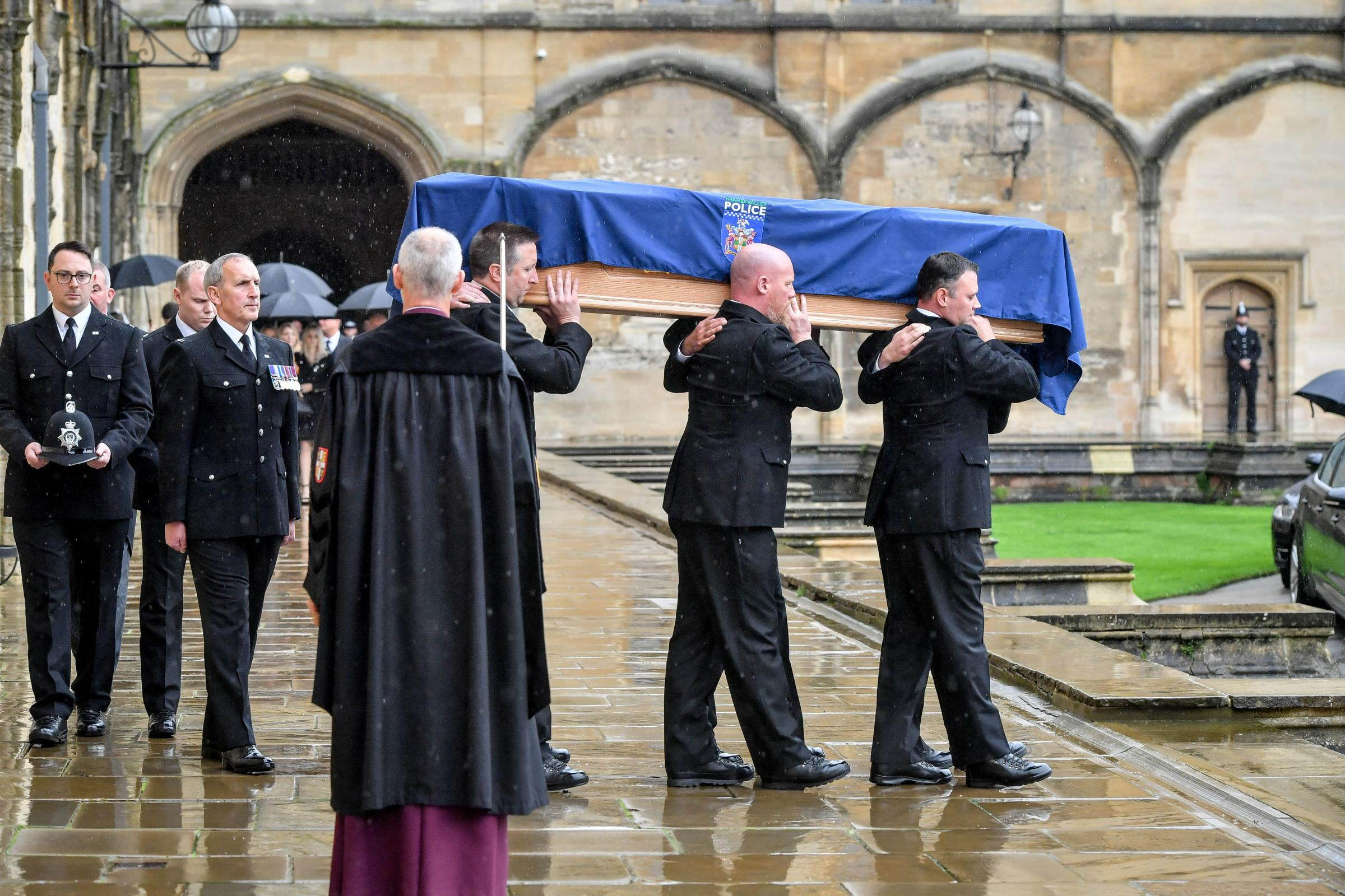 The funeral of PC Andrew Harper