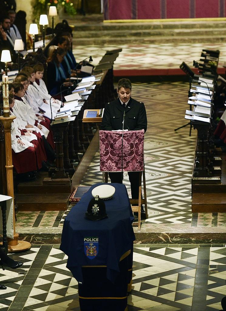 Jordan Johnstone shares tribute at PC Andrew Harper funeral