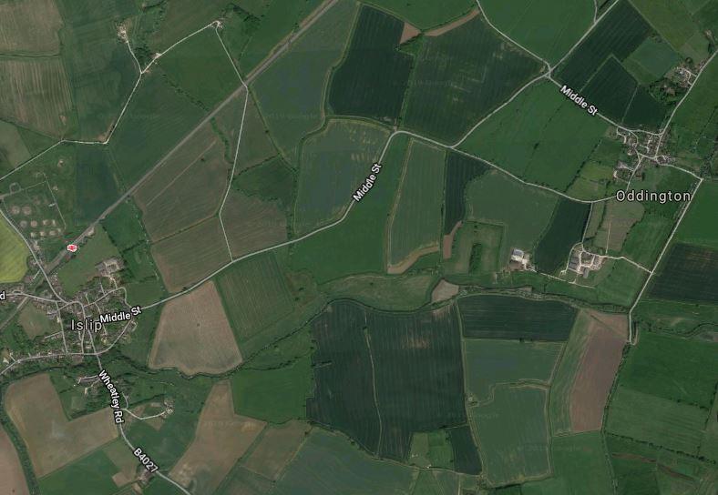 Flooding on Islip to Oddington road, Oxfordshire