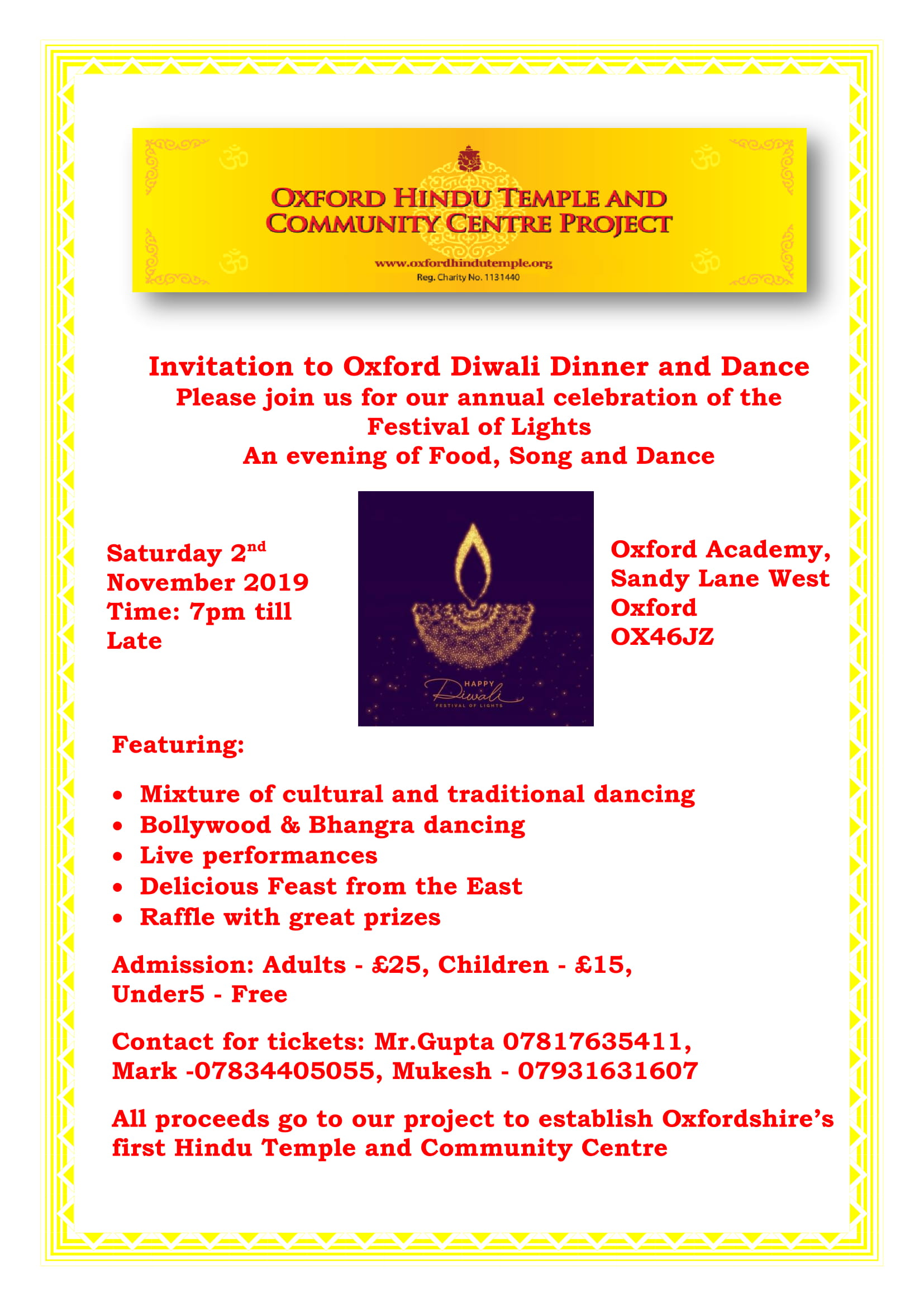 Oxford Diwali Dinner and Dance