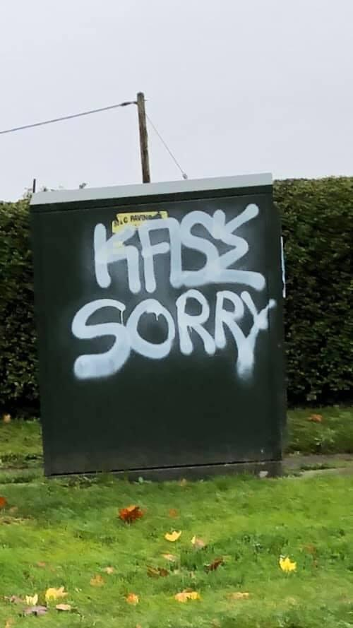 Thames Valley Police West Oxfordshire shared this picture of graffiti in Eynsham