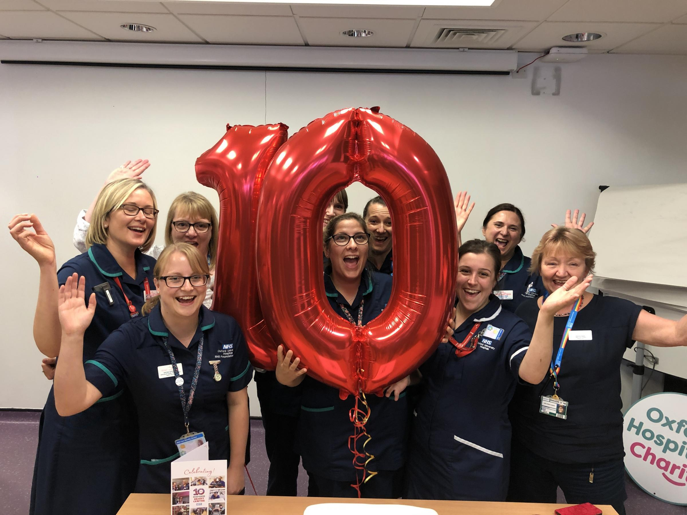 Birthday bash marks 10 years since Oxford heart centre opened
