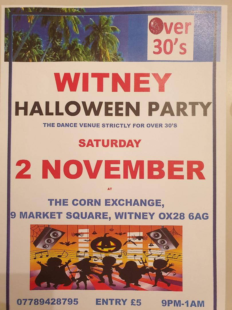 Witney Over 30's Club  Halloween Party