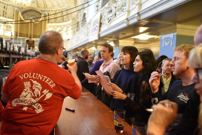 Last year's beer festival at Oxford Town Hall Picture: Richard Cave