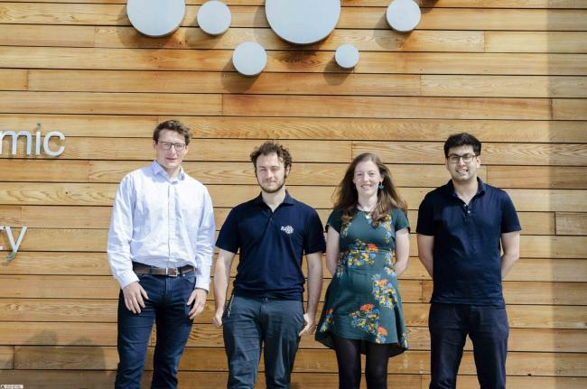 The UKAEA graduates who were finalists in the IET Global Challenge 2019. From left: George Fulton, Jon Witty, Helena Livesey, and Alexander Morgan Picture UKAEA