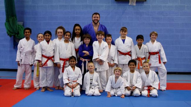 Ben Fletcher after the masterclass at Banbury Judo Club 		                Picture: Foxcote Ltd