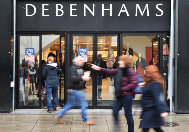Struggling department store Debenhams on the brink of collapse