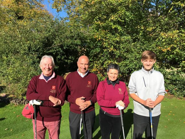 Burford's new captains line up (from left): Earl Hughes, David Bell, Julie Talbot and Liam Aust