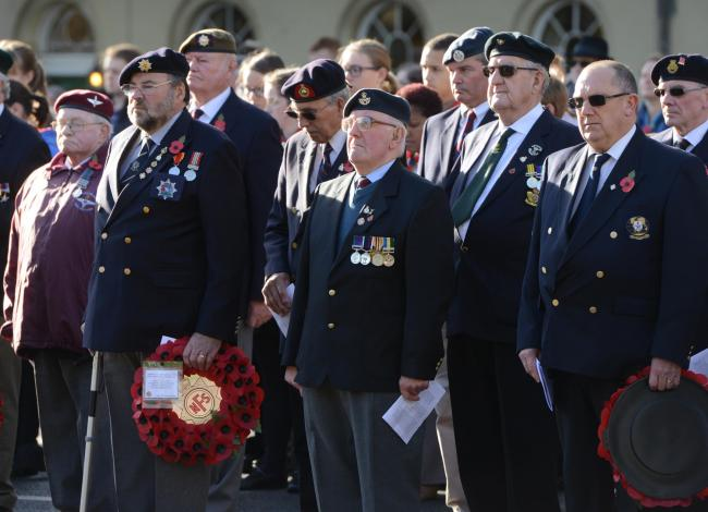 Veterans at Oxford's Remembrance Sunday service in 2016. Picture: Richard Cave