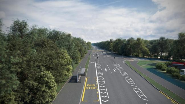 Proposed Cassington junction looking east as part of the A40 upgrades. Picture: Oxfordshire County Council