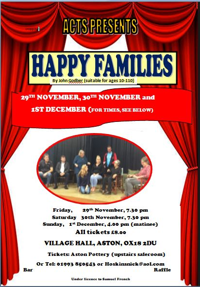 HAPPY FAMILIES by John Godber (Sun 4pm)