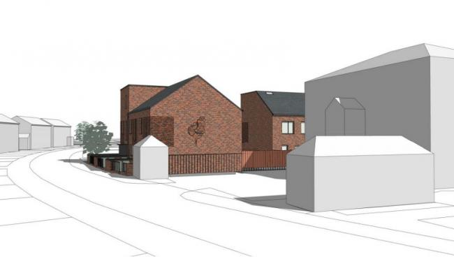 This design drawing of the new homes on Edgecombe Road features the poppy etched into the brickwork. Picture: Oxford City Council.