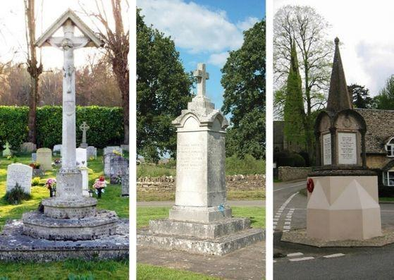 West Oxfordshire War Memorials at , Freeland and Ramsden