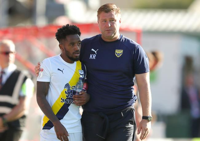Oxford United's Tariqe Fosu (left) and Karl Robinson have been short-listed for October awards in Sky Bet League One   Picture: James Williamson