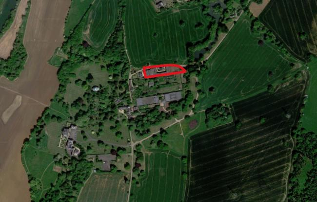 A map showing where new holiday flats are set to be built on the Nuneham Park estate near Oxford. Picture: Google Maps